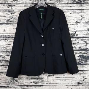 Ralph Lauren 16 Black Suit Jacket Blazer
